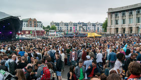 Muzyka w Bristol Barbour festiwalu 2016 obrazy royalty free