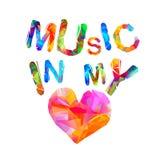 Muzyka w mój sercu Trójgraniaści listy royalty ilustracja