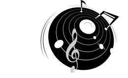 Muzyka, wektor, galaktyka środki obraz stock