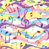 Muzyka wzór Muzyk notatki i znaka multicolor tło Zdjęcie Royalty Free