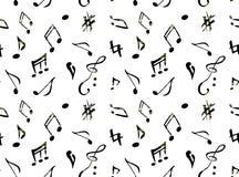 Muzyka wzory Fotografia Royalty Free