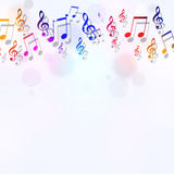 Muzyka Zauważa Jaskrawego tło Zdjęcia Royalty Free