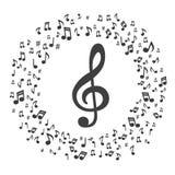 Muzyka zauważa muzykalnych notatek akwareli tło - Wektorowy ilustrator royalty ilustracja