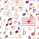 Muzyka zauważa wektorowego bezszwowego wzór royalty ilustracja