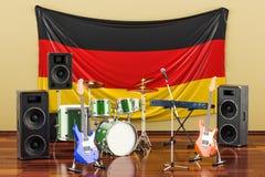 Muzyka, zespoły rockowi od Niemcy pojęcia, 3D rendering royalty ilustracja