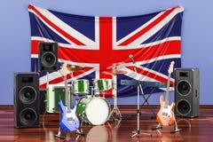 Muzyka, zespoły rockowi od Zjednoczone Królestwo pojęcia, 3D rendering royalty ilustracja