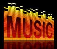 Muzyka zrównuje pojęcie. Fotografia Stock