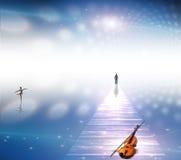 muzykalna ścieżka Fotografia Royalty Free