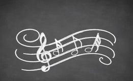 Muzykalna czerni deska Zdjęcie Stock
