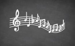 Muzykalna czerni deska Obrazy Stock