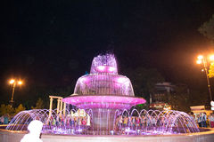 Muzykalna fontanna Zdjęcie Royalty Free