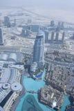 Muzykalna fontanna, muzykalny fontanna widok od obserwacja pokładu Burj Kalif Zdjęcie Stock