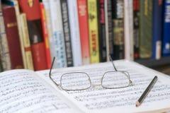 Muzykalna notacja obrazy stock