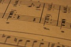Muzykalna notacja, fortepianowy wynik zdjęcia stock