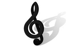 Muzykalna notatka Obraz Stock