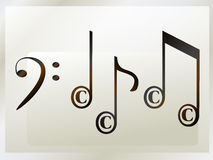 muzykalna prawo autorskie notacja Obraz Stock