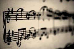 muzykalne notatki Obrazy Royalty Free