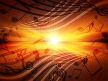 Muzykalne notatki Fotografia Stock
