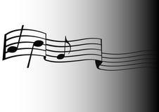 muzykalne notatki Zdjęcia Stock