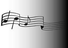 muzykalne notatki Ilustracji