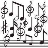 Muzykalne notatki Zdjęcie Royalty Free