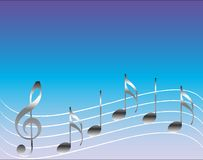 muzykalne notatki Obraz Stock