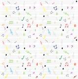 muzykalne notatki deseniują bezszwową tapetę Zdjęcie Royalty Free