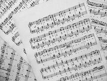 Muzykalne notatki dla muzyki Obrazy Stock