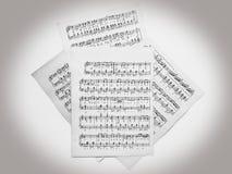 Muzykalne notatki dla muzyki Fotografia Stock