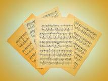 Muzykalne notatki dla muzyki Zdjęcie Royalty Free