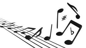 Muzykalne notatki Podnosi z personelu Zdjęcie Royalty Free