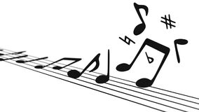 Muzykalne notatki Podnosi z personelu Fotografia Royalty Free