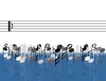 Muzykalne notatki przed klepką obraz royalty free