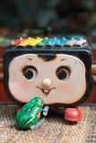 Muzykalne retro zabawki dalej uciekają rynek Zdjęcie Royalty Free