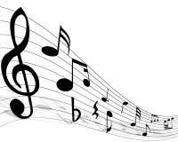 muzykalnej notatki personel Zdjęcie Royalty Free