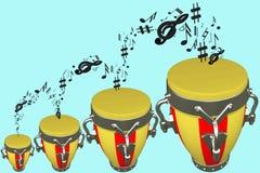 Muzykalni bębeny Fotografia Royalty Free