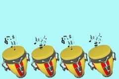 Muzykalni bębeny Fotografia Stock
