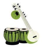 muzykalni indyjscy instrumenty Zdjęcia Royalty Free