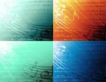 muzykalni tła Obrazy Royalty Free