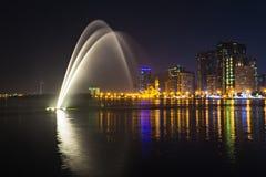 Muzykalny fontanny przedstawienie obrazy stock
