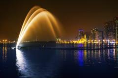 Muzykalny fontanny przedstawienie Zdjęcia Stock
