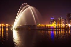 Muzykalny fontanny przedstawienie Zdjęcia Royalty Free