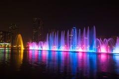 Muzykalny fontanny przedstawienie Zdjęcie Royalty Free