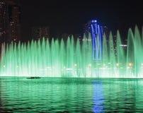 Muzykalny fontanny przedstawienie w Sharjah Fotografia Royalty Free