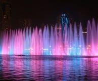 Muzykalny fontanny przedstawienie w Sharjah Zdjęcie Stock