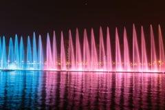 Muzykalny fontanny przedstawienie w Sharjah Zdjęcie Royalty Free