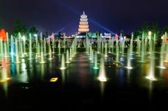 muzykalny fontanny przedstawienie Xian Fotografia Royalty Free