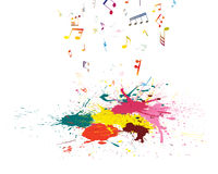 Muzykalny grunge tło Obrazy Stock