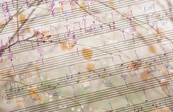 Muzykalny i sezonowy tło obraz royalty free