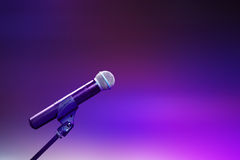 Muzykalny mikrofon Fotografia Royalty Free